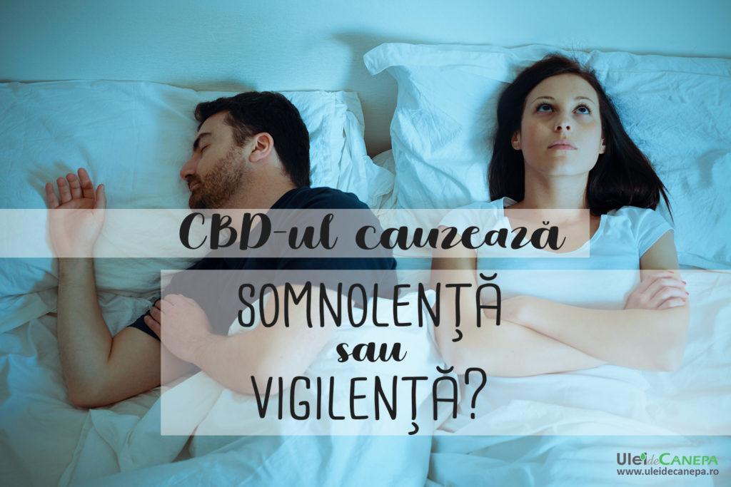 CBD-ul cauzează somnolență sau vigilență?